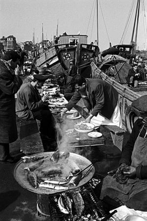 Vintage Istanbul: 1965, old open-air fish restaurants on the Eminönü shore of the Golden Horn