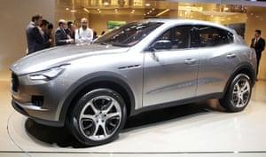 Frankfurt motor show: A Maserati Kubang is presented at the show