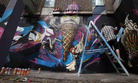 Graffiti Artists Collaborate For Europe's Largest Street Art Project In Bristol