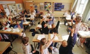 school children in Sweden