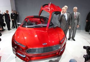 Frankfurt motor show: Stephen Odell, CEO of Ford Europe, presents the Evos concept car by Ford
