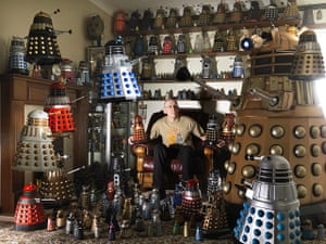 Guinness world records: Rob Hull from Doncaster, UK, owner of the largest collection of Daleks