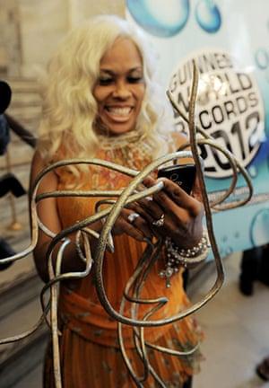 Guinness world records: Chris The Dutchess Walton shows off her fingernails