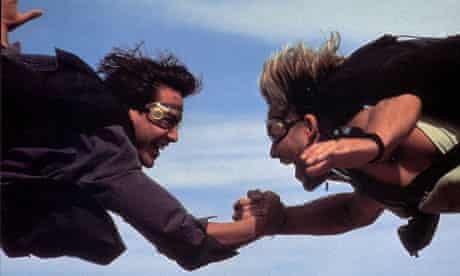 'Nice to meet you. dude!' Keanu Reeves and Patrick Swayze in Point Break.