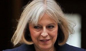 British Home Secretary Theresa May leave