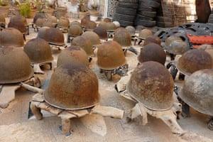 Weekend Readers' pictures: WWII German helmets by Ann Finn