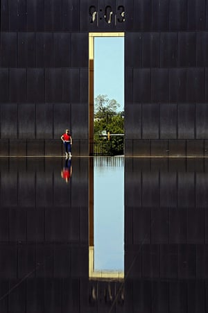 24 hours in pictures: Oklahoma City, US: Visitors walk through the Oklahoma City Memorial