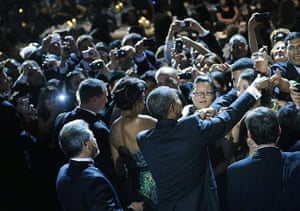 24 hours in pictures: Washington, US: President Barack Obama and his wife Michelle