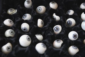24 hours in pictures: New York, US: Prosthetic eyeballs