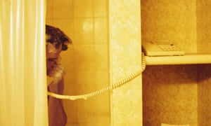 answering phone in shower