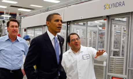 President Obama visits the Solyndra facility in May 2010