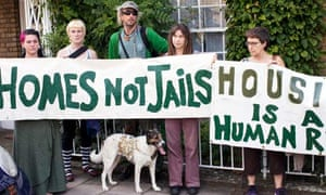 People protest for squatters rights