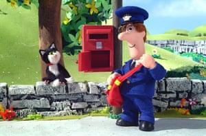 Postman Pat is 30: Pat and Jess at postbox