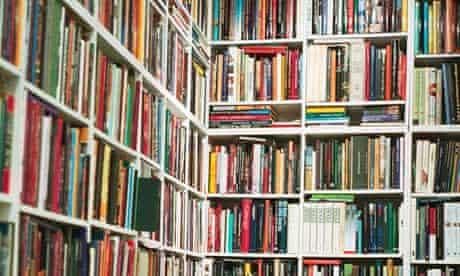 Walls of Books at Book Shop