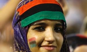 A Libyan revolutionary woman
