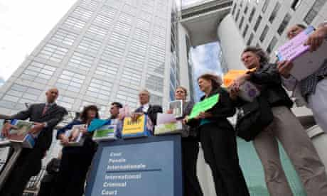 Members of SNAP, including Barbara Blaine, protest at the ICC in The Hague about clergy sex abuse