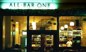 An All Bar One bar.