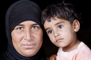 Levene West Bank: Hajah with her daughter Yasmeen in Al Fakheet