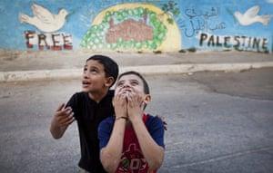Levene West Bank: Boys play in Hebron Old City