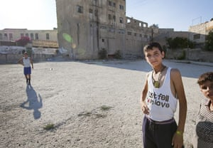 Levene West Bank: Boys hang out in Hebron Old City