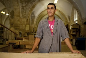 Levene West Bank: Moaz Dabbagh, from East Jerusalem, at the Al Itam vocational school