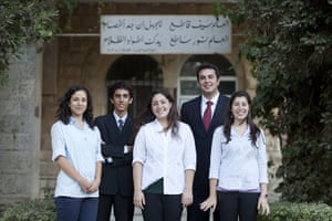 Levene West Bank: Students at the Quaker administered Ramallah Friends School