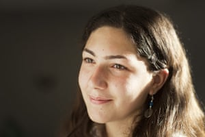 Levene West Bank: Areen Bahour, 17, serves as chairwoman of the club.