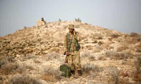A Pakistani soldier in South Waziristan