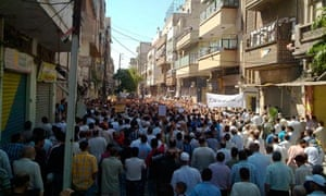 Protesters in Homs
