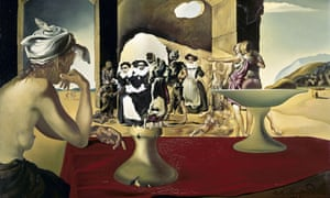 Slave Market with the Disappearing Bust of Voltaire by Salvador Dali