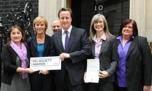 Central Surrey Health receive  a big society award from prime minister David Cameron
