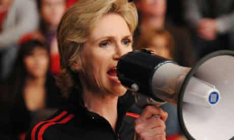 Jane Lynch as Sue Sylvester in Glee