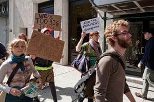 Wall Street protest: Anti-capitalist protestors in New York