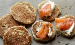 Rye and oat blinis