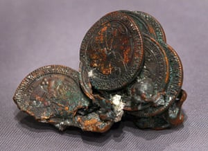 September 11 exhibition: Commemorative medallions fused together