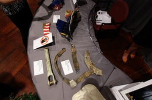 September 11 exhibition: Seatbelts and other items from United Flight 93