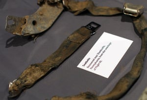 September 11 exhibition: Seatbelts from United Flight 93