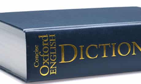 Concise Oxford English Dictionary isolated on a pure white background