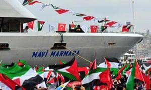 Mavi Marmara arriving into Istanbul