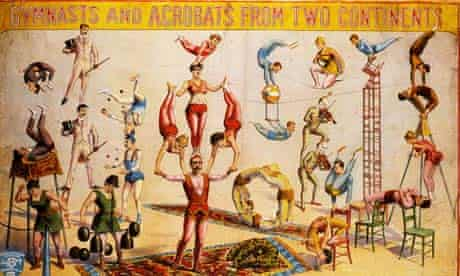 Victorian circus poster