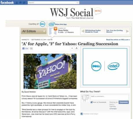 Wall Street Journal Social app for Facebook 2