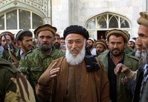 President Rabbani: 2001: Afghan President Burhanuddin Rabbani