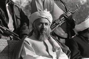 President Rabbani: 1987: Prof. Burhanuddin Rabbani, leader of the Afghan Jamiat-i-Islami