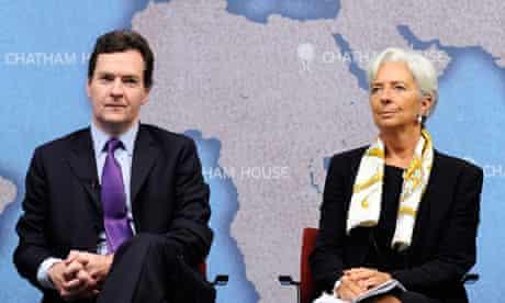 George Osborne and Christine Lagarde