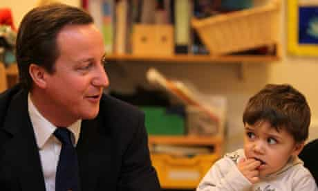 David Cameron visits Westminster's Children Society.