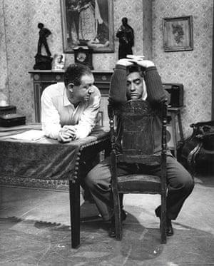 Comedians: Sid James and Tony Hancock, 1959