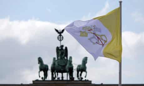 Vatican flag in Berlin