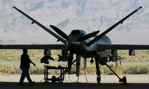 Reaper drone aircraft in Nevada, US