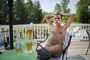 FTA: Mark Blinch: Park owner Stephane Deschenes enjoys a beer at the Bare Bistro