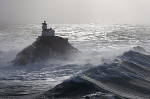 The Sea: Tevennec lighthouse in the Raz de Sein, Finistère, Brittany, France
